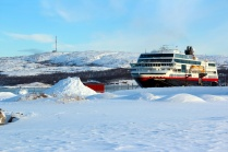 Судно Trollfjord в Киркенесе